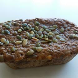 Gluten-laktosefri Rugbrød med græskarkerner
